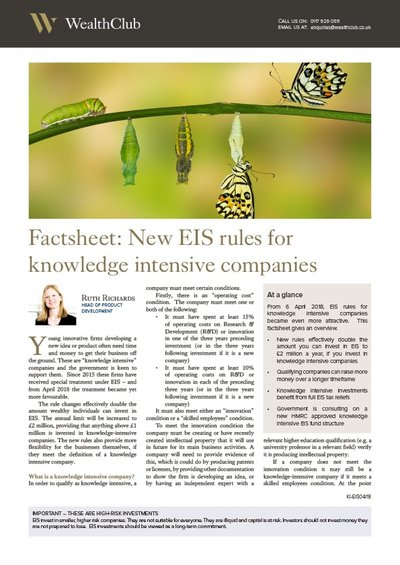 Factsheet: knowledge-intensive EIS cover