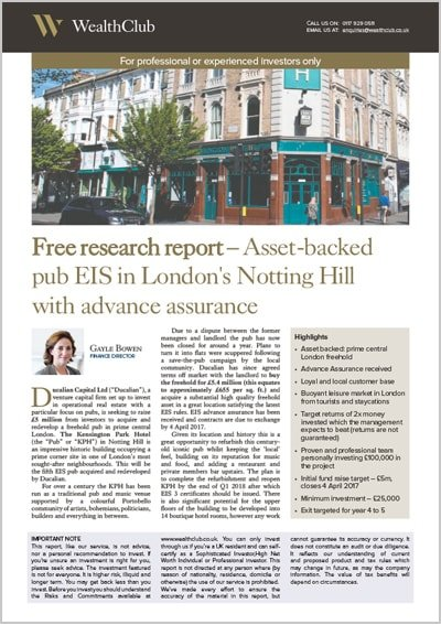 Asset-backed pub EIS report