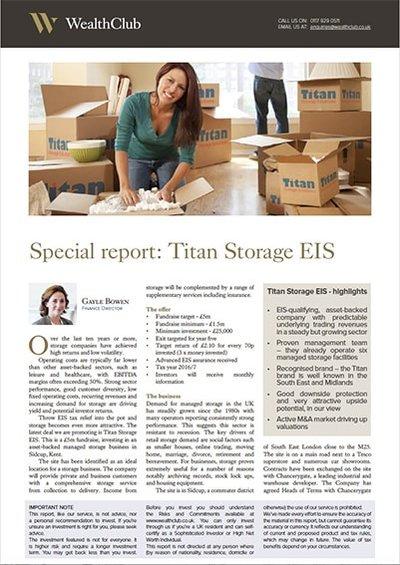 Wealth Club - Titan Storage (Sidcup) EIS Report