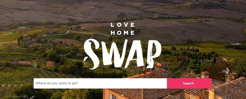 Love Home Swap - homepage, July 2017
